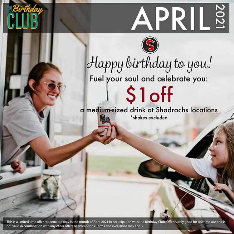 Birthday Club - Shadrachs